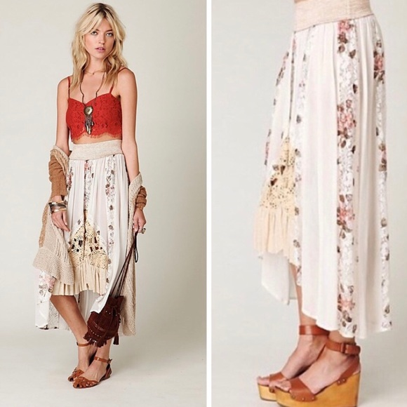 818a81c7c Free People Dresses   Skirts - Free People-New Romantics Gypsy Skirt  festival